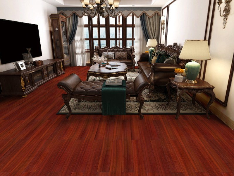 古象地板的全能稳定王系列实木地板就这样俘获了哈尔滨丽景花园