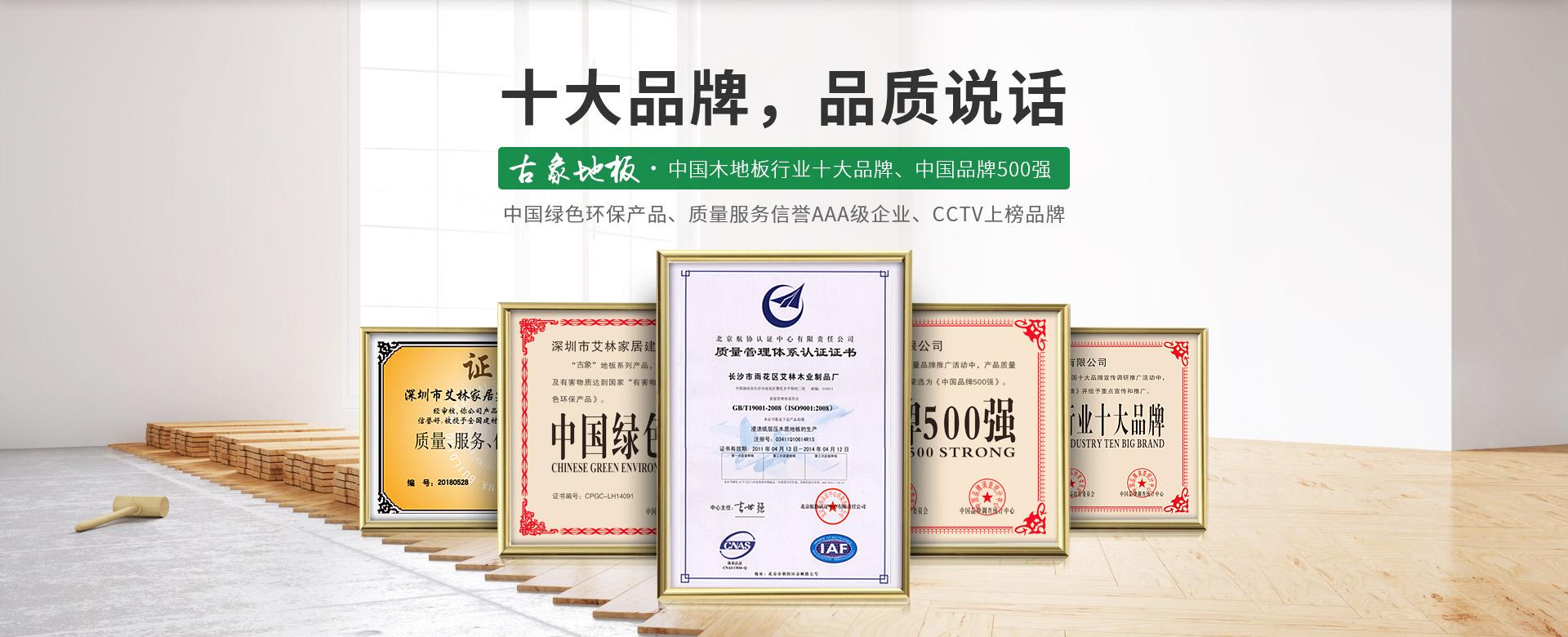 古象地板,中国木地板行业十大品牌,中国品牌500强