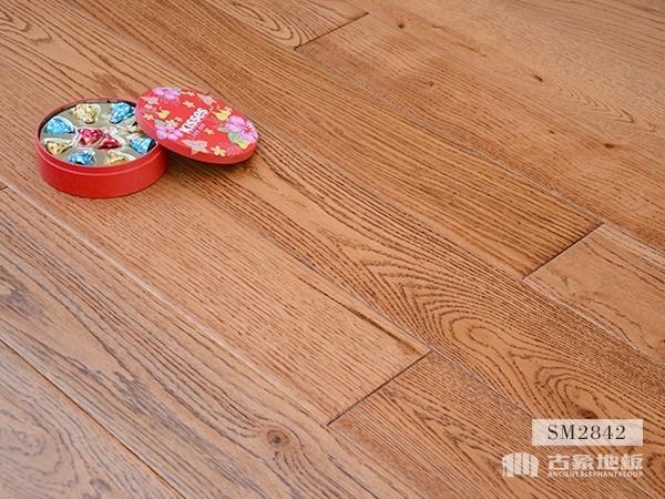 实木地板·橡木仿古(浅柚木色)-SM2842