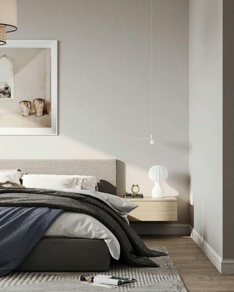 古象地板卧室铺装效果图