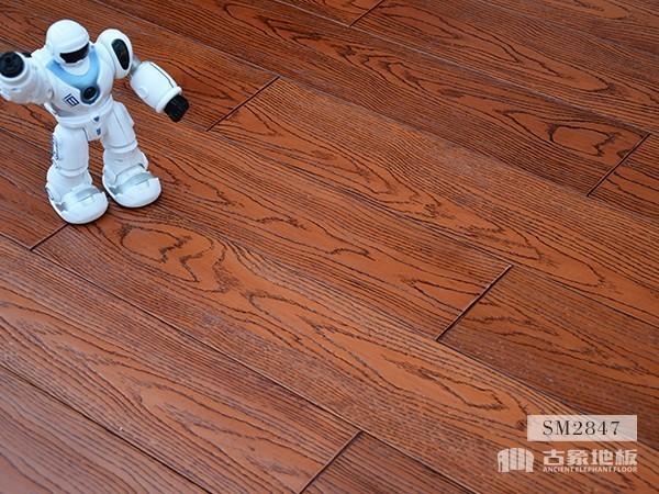 实木地板·番龙眼仿古压花(橡木红色)-SM2847