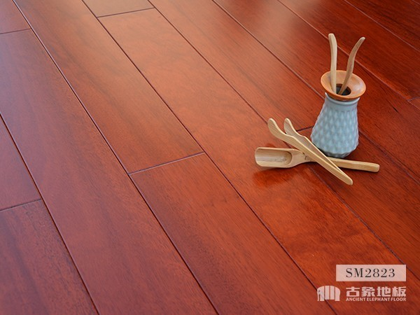 实木地板·番龙眼(红色)-SM2823原木地板