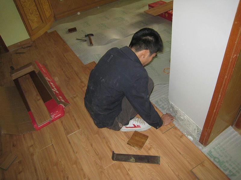拆除木地板