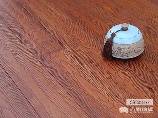实木地板·番龙眼仿古压花(橡木自然色)-SM2846