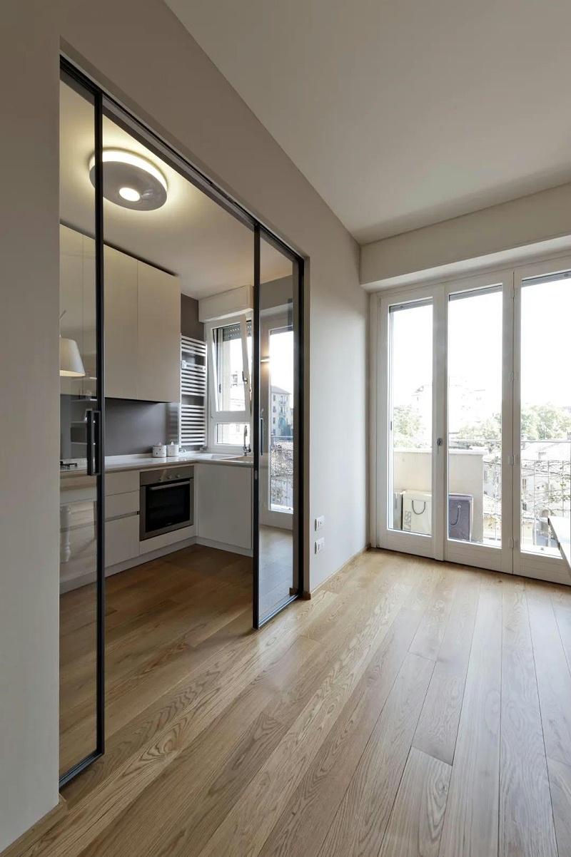 木地板+玻璃门